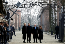 After Auschwitz visit, Pence accuses Iran of Nazi-like anti-Semitism