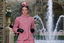Chanel brings springtime to Paris with extravagant rose garden
