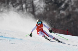 Siebenhofer fastest, Vonn on pace in downhill training