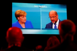 Merkel survives challenger's onslaught to win election TV debate
