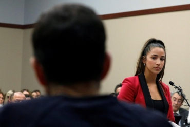 Olympic gymnast Raisman harshly criticizes Nassar, USA Gymnastics
