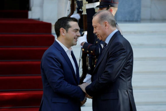 Greece and Turkey trade barbs as Erdogan visits Athens