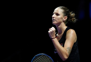 Tennis: Pliskova revels in 'top win' over Wozniacki at WTA Finals