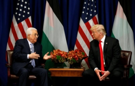 Palestinian Abbas says Middle East peace closer with Trump engaged